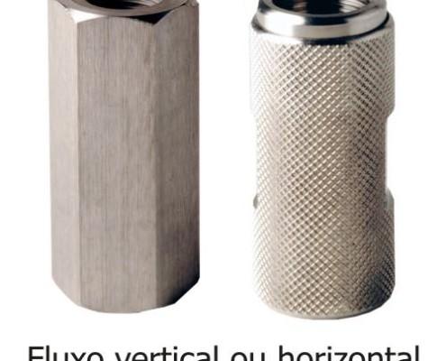 valvula retenção aço inox
